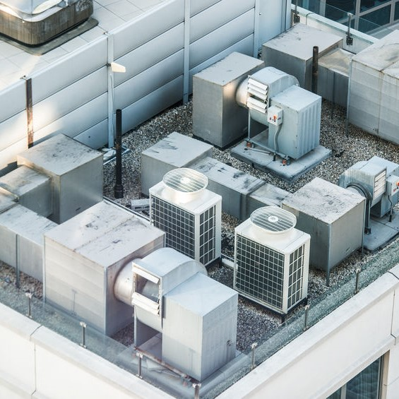 commercial hvac system on roof